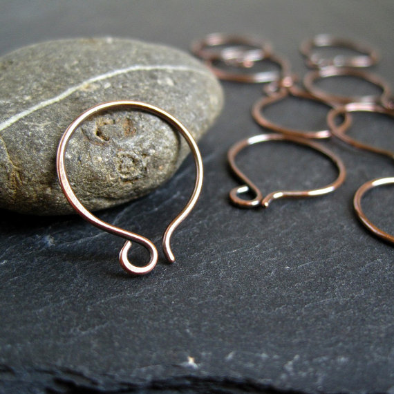 Copper Hoop Earwires