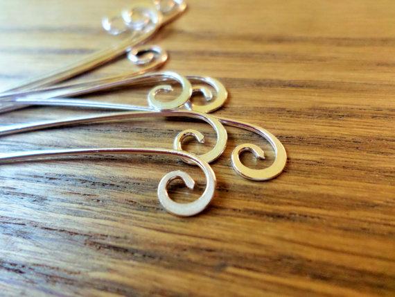 Semi Swirl Headpins