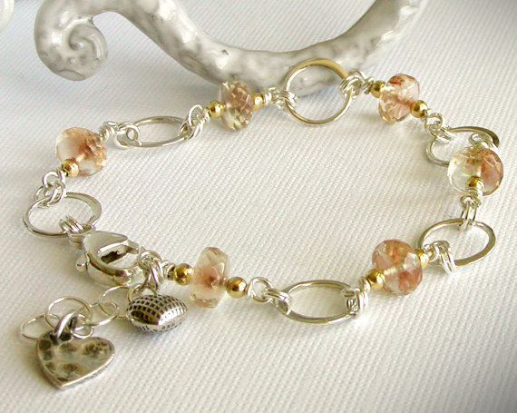 Oregon Sunstone Link Bracelet