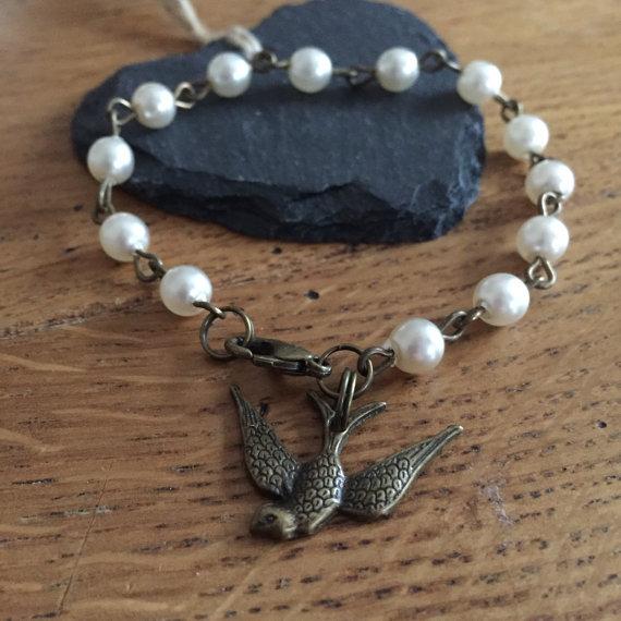 Vintage Pearl Linked Bracelet