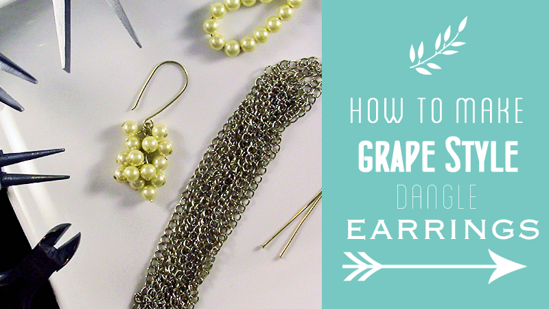 How to Make Grape Style Dangle Earrings