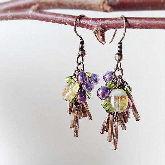 Antique Bronze Dangle Earrings