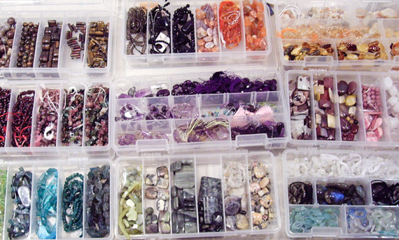 Mix and Match in Divided Storage Containers & 10 Creative Bead Storage Solutions for Craft Room - Craft Minute