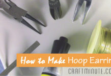 How to Make Hoop Earrings