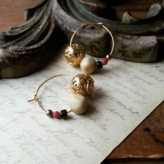 Mix and Match Beaded Hoop Earrings