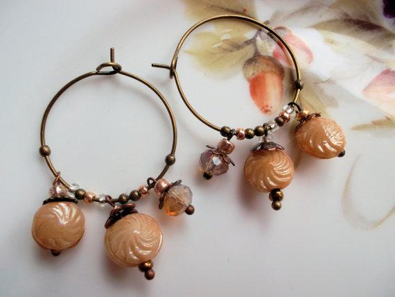 Multi Drop Beaded Hoop Earrings