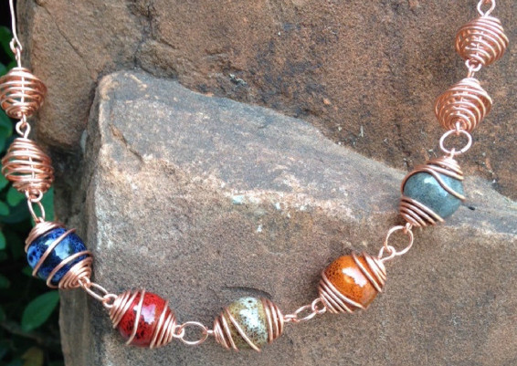 Copper-Wrapped-Wire-Cage-Necklace
