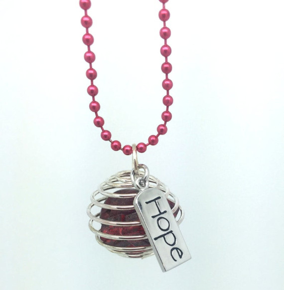 Red-Wire-Wrapped-Bead-Cage-Pendant
