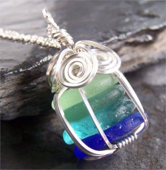 Sea-glass-Pendant-Bead-Cage