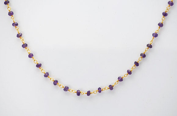 Amethyst-Wire-Wrapped-Linked-Necklace