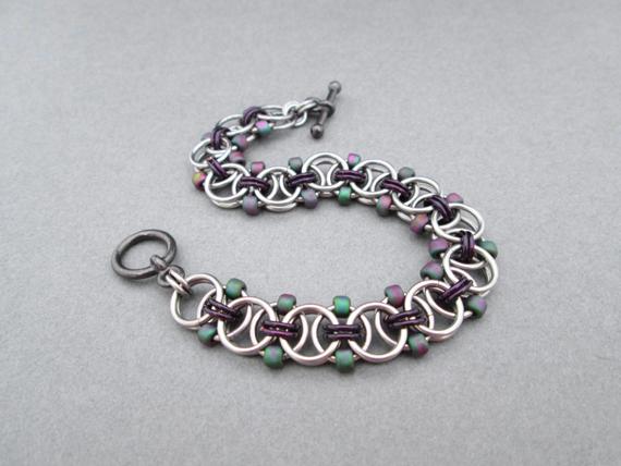 Beaded-Chain-Jump-Ring-Linked-Bracelet