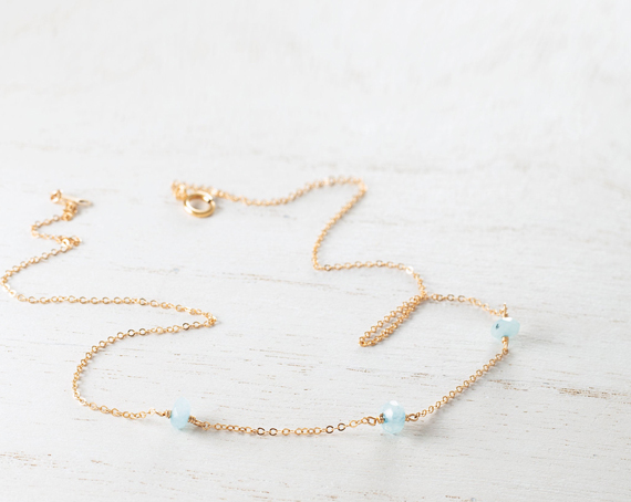 Chain-Wire-Wrapped-Aquamarine-Birthstone-Month-Necklace