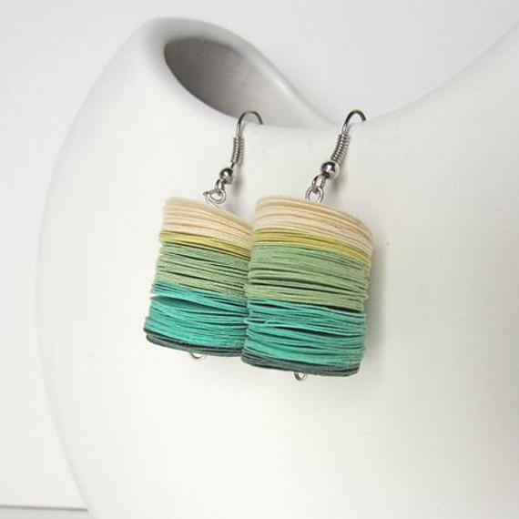 Circle-Stacked-Felt-Earrings