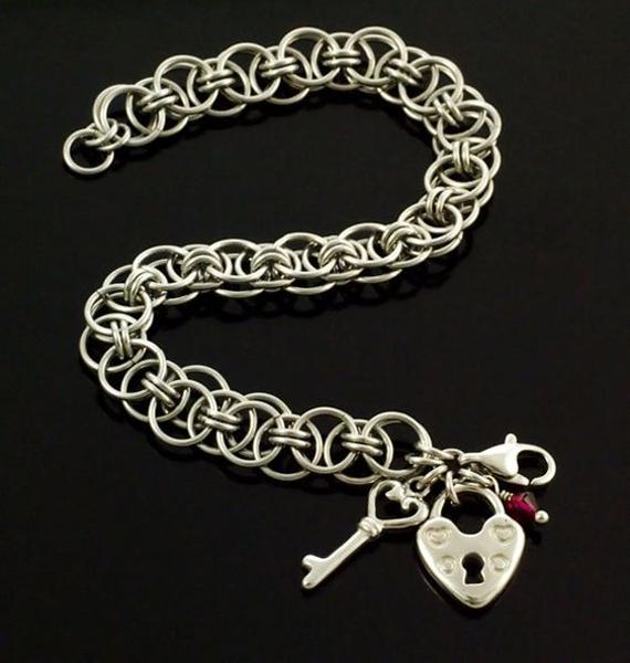 Heart-Locket-Jump-Ring-Bracelet
