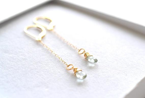 Long-Chain-Wire-Wrapped-Aquamarine-Birthstone-Earrings