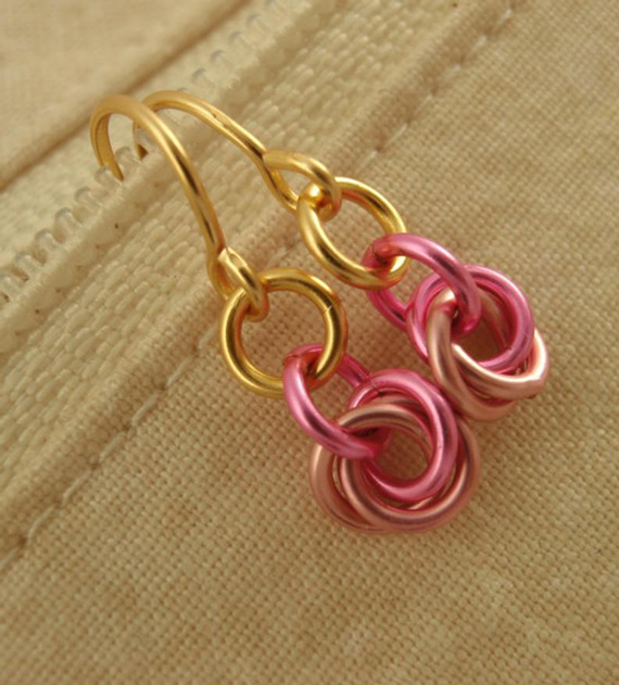 Multi-Color-Dangle-Jump-Ring-Earrings