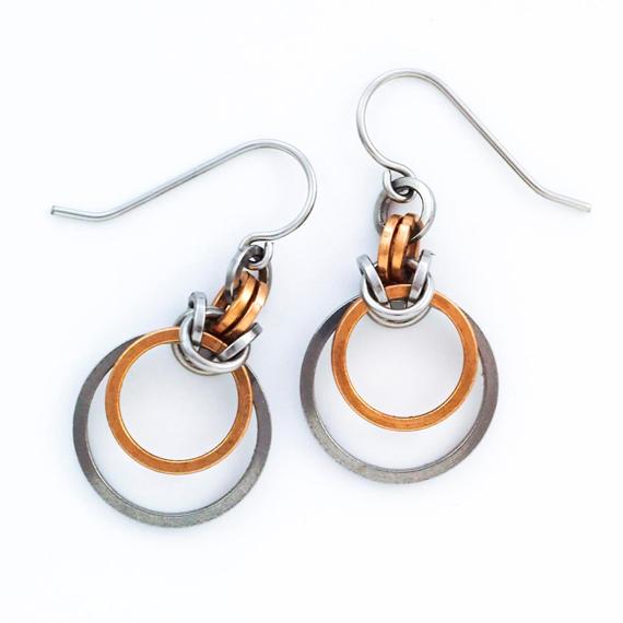 Multi-Metal-Linked-Jump-Ring-Earrings