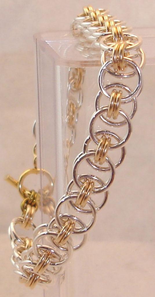 Parallell-Weave-Jump-Ring-Multi-Metal-Bracelet