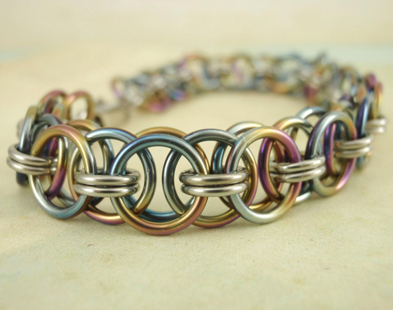 Rainbow-Stainless-Steel-Chainmaille-Jump-Ring-Bracelet