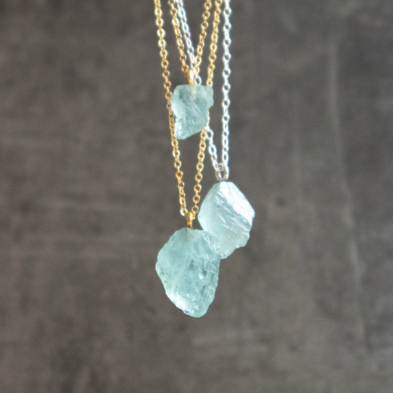 Raw-Aquamarine-Birthstone-Pendant-Necklace