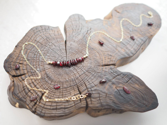 Raw-Garnet-Birthstone-Necklace