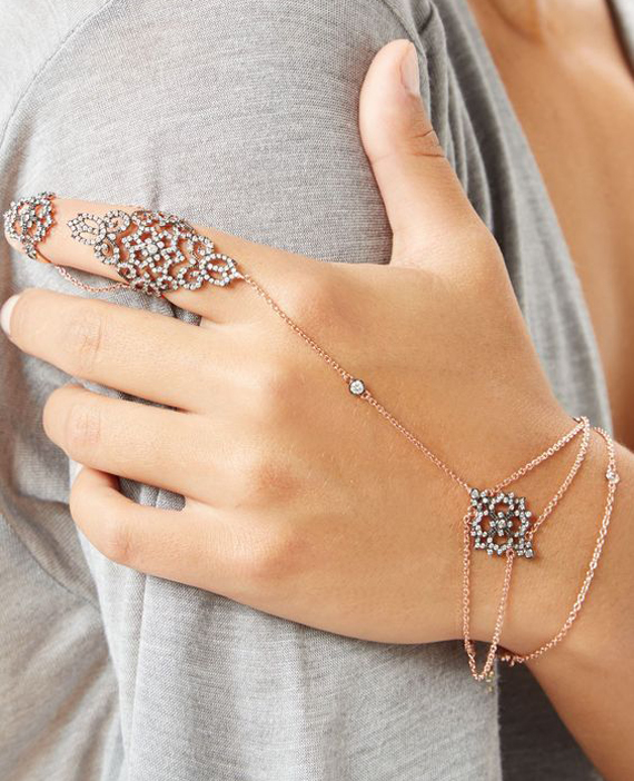Ring-and-Chained-Slave-Bracelet