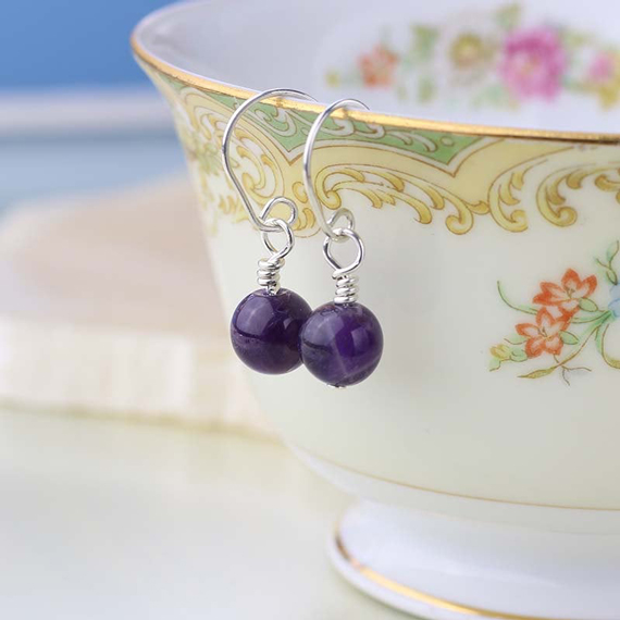 Round-Wire-Wrapped-Amethyst-Birthstone-Earrings