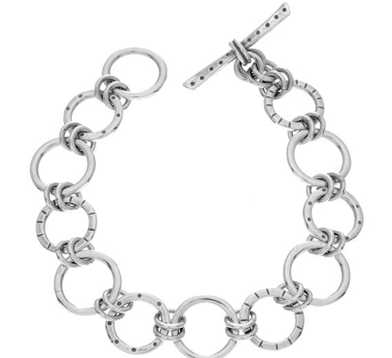 Silver-Texture-Ring-Bracelet-Design