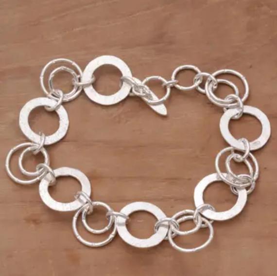 Sterling-Silver-Linked-Jump-Ring-Bracelet
