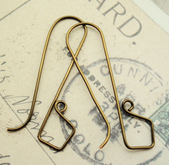 Bronze-Hand-Formed-Ear-Wires