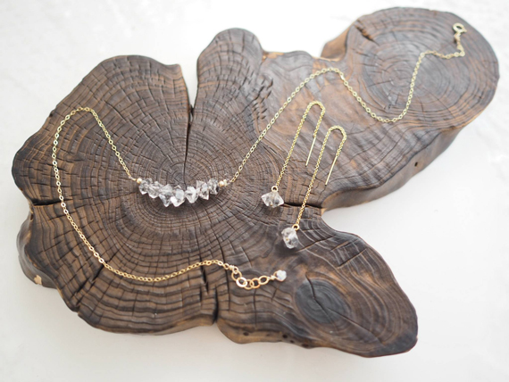 Diamond-Birthstone-Bar-Necklace-and-Earrings