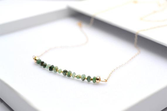 Emerald-Birthstone-Bar-Necklace
