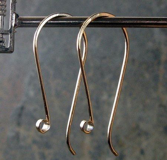 Gold-Flat-Coil-Earwires
