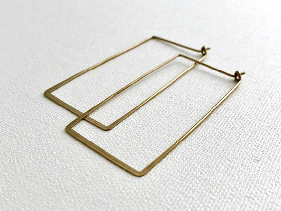 Hammered-Square-Ear-Wires