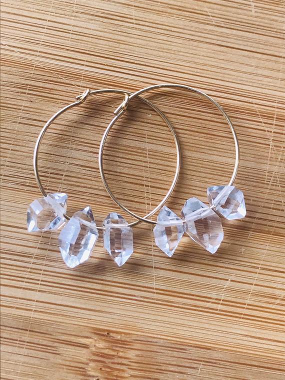 Hoop-Diamond-Birthstone-Earrings