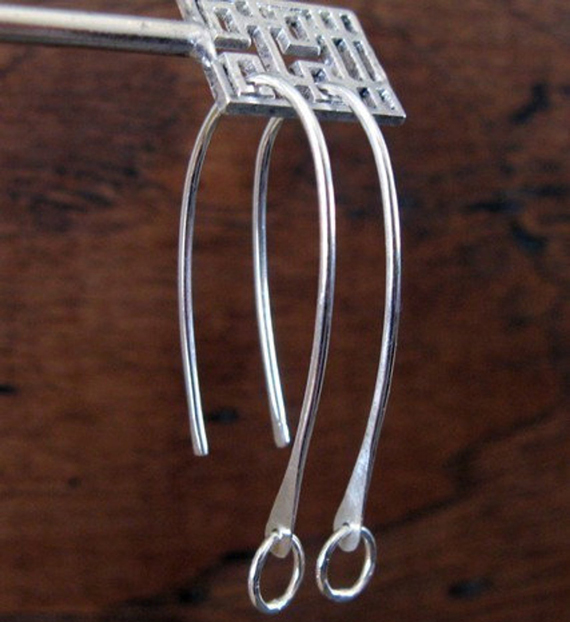 Silver-Hammered-Ear-Wires