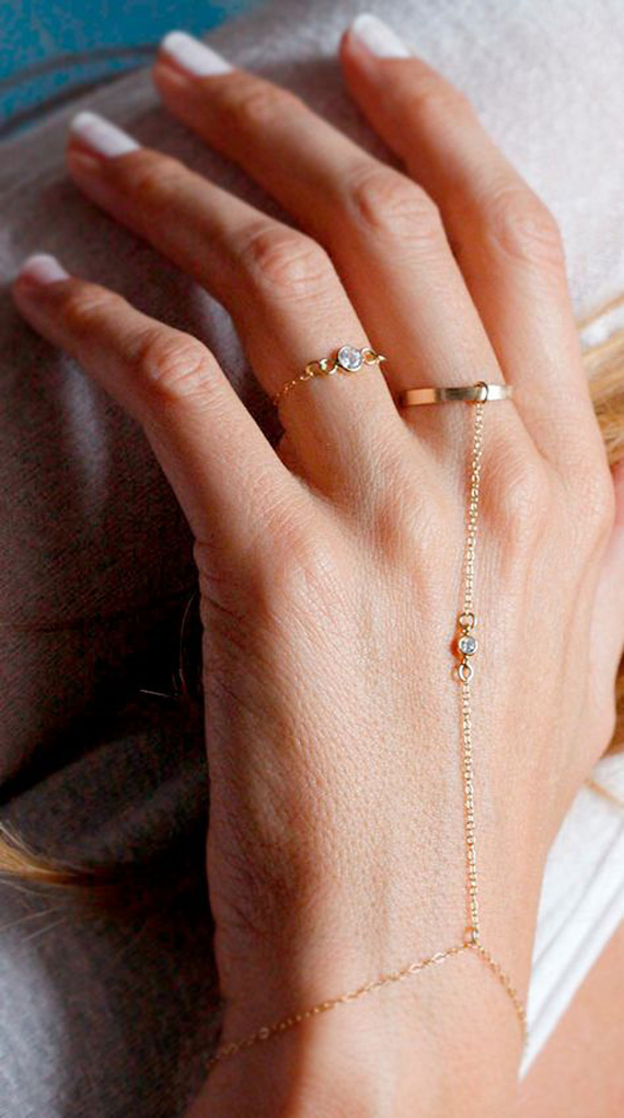 Simple-Ring-Hand-Chain-Bracelet