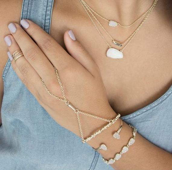 Triangle-Bar-Hand-Chain-Bracelet