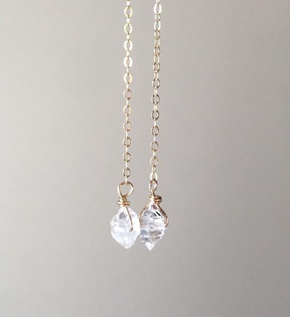 Wire-Wrapped-Chain-Diamond-Drop-Earrings
