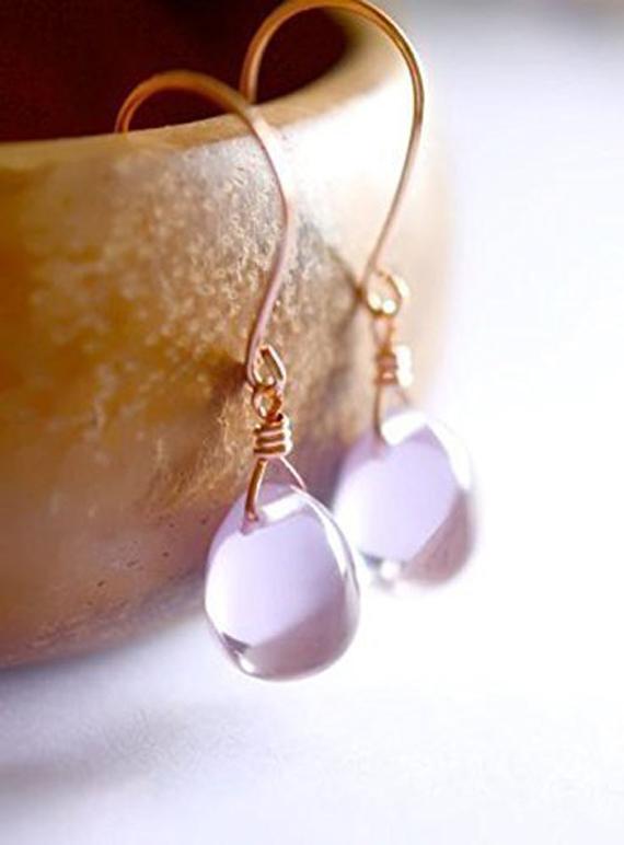 Alexandrite-Briolette-Birthstone-Earrings