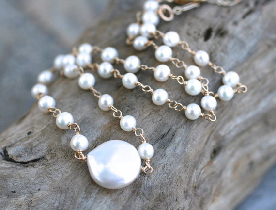 Coin-Pearl-Birthstone-Linked-Necklace