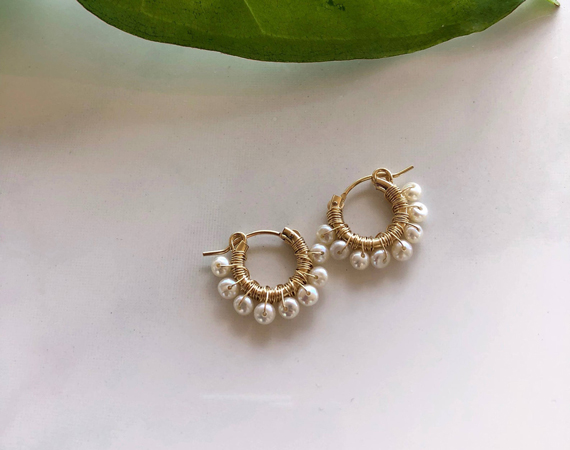 Dainty-Hoop-Pearl-Wrapped-Earrings