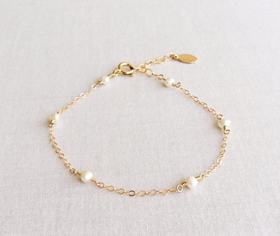 Gold-Pearl-Birthstone-Bracelet