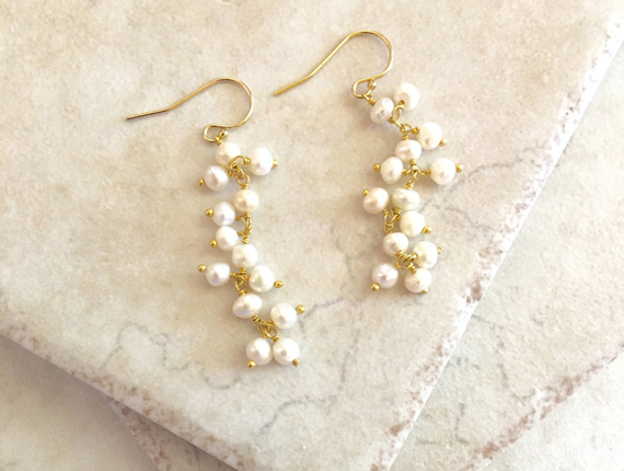 Pearl-Birthstone-Grape-Style-Earrings