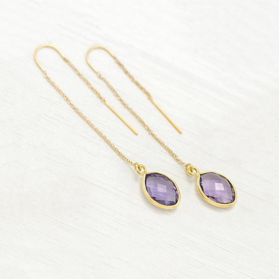 Purple-Alexandrite-Drop-Earrings