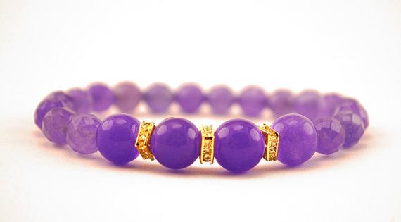 Round-Alexandrite-Birthstone-Beaded-Bracelet