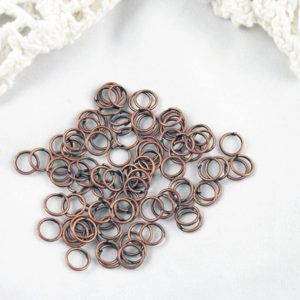 100 6mm Copper Jump Rings