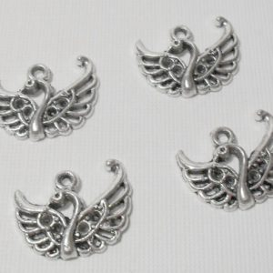 4pc Swan Charms