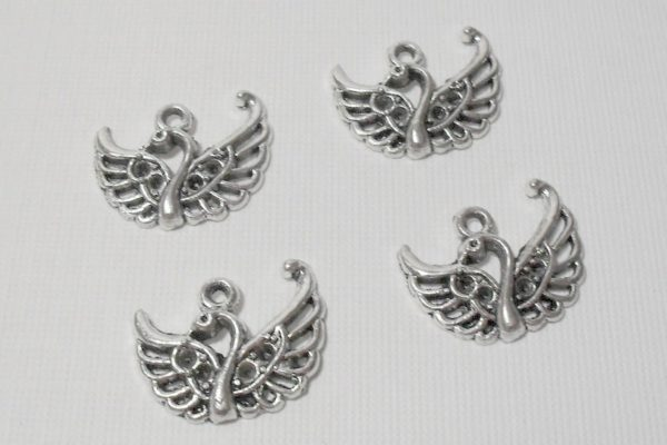 4pc Swan Charms