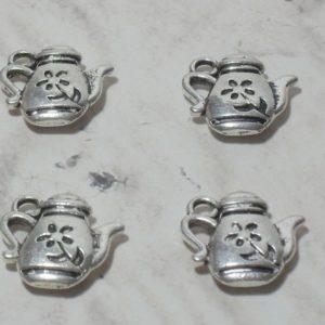 4pc Teapot Charms
